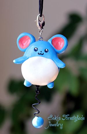 Marill Pokemon Fanart Necklace by Sakiyo-chan