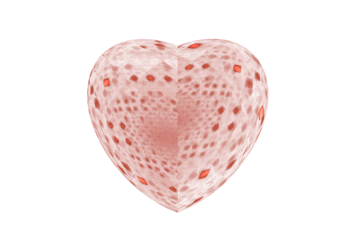 Free Fractal Red Heart png_by PaMonk by PaMonk