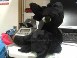 Toothless in Minky 12 inch by nightelfy