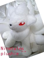 Ninetales Plushie by Pickelicious