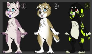 Canine adopts - 3/3 open! by Kunook