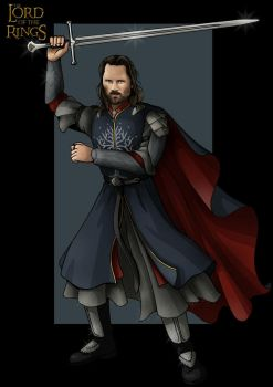 aragorn  -  commission by nightwing1975