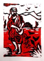 The Sower - In Red by fleetofgypsies