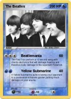The Beatles Pokemon Card by BeatlesBoy26