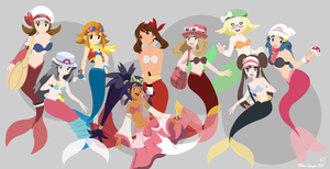 Pokemon Mermaids Group by miss-lollyx-33