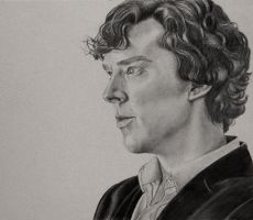 Sherlock Profile Sketch by beth193