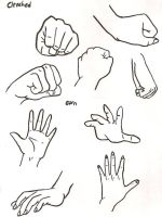 More hand Examples by ajbluesox