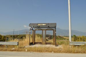 Busstation somewhere in nowher by thenata