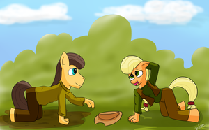 caramel and applejack 2: young love by gino456