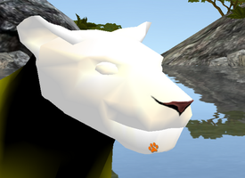 3-D Feline Nose for FeralHeart by Safari-the-cougar