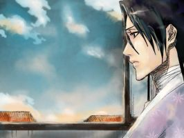 pensive Byakuya - chapter 181 by Maureval