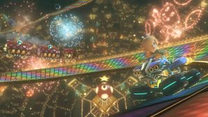 Rosalina on Rainbow Road Mario Kart 8 by Rosalina-Luma