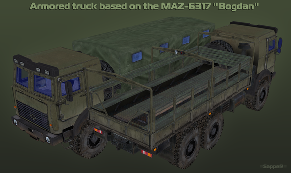 WIP Armored MAZ 6317  [3] by S-a-p-p-e-R