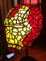 Iron Man Stained Glass Side by mclanesmemories