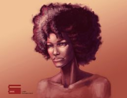 Lady Afro by topher00001