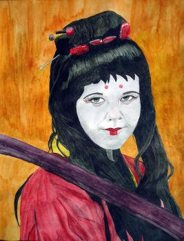 Samurai's spirit in watercolour by aerothoughts