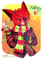 FNAF | Christmas Foxy by Myebi