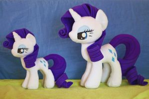 Rarity Plush 5 and 4 by nekokevin