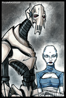 Grievous and Asajj Ventress by PurpleRAGE9205