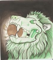 Green Lion Skull by Xenothere