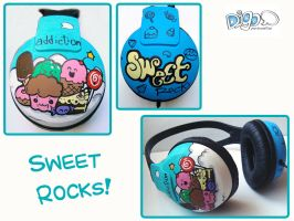 Sweet Rocks Audifonos by digo-personaliza