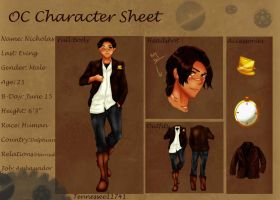 Nicholas E. .:Character Sheet: by Tennessee11741
