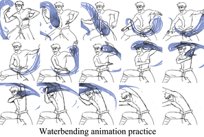 Waterbending by AtomicRedBoots