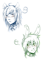 doodles with fluffy ears :3 by MousyM