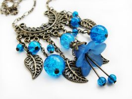 FOR SALE Fairy dream blue necklace by Benia1991