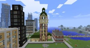 Minecraft Singer Building by Spyrobandi