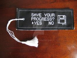 Geek Cross Stitch Bookmark by Elmira-san