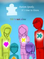 Autism Awareness poster by Puzzle-Piece-Angel