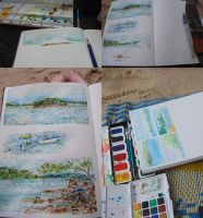 Sketching in Borneo by Sandora