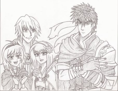 FE Heroes Tempest Trials Team by Willanator93