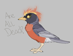 Red Cockaded FIRE BIRD OF DEATH by MBPanther
