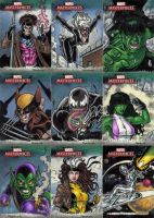 Marvel Masterpieces 3 Cards C by tonyperna