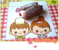 Cannolo charm by coffishop