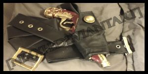 Reaver- Gun Holster and Belts by NixxH