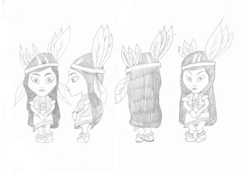 Little Indian Character :D by TomLoux