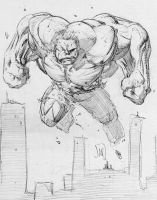 Hulk Sketch by jonathan-rector