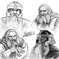 Gimli sketches by Manweri