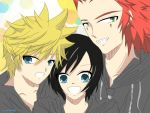 Roxas/Xion/Axel: Selfie~! by tomome29