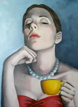 Girl with pearls by MBanas
