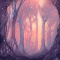 pink forest by Bakenius