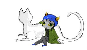 Nepeta Sketch by Chardarble