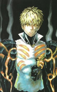 One Punch Man Artwork Genos by corphish2