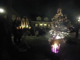 setting up our neighbourhood Christmas tree by StarGateFanFre
