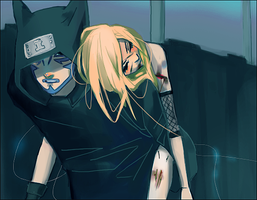 Kankuro and Ino by Lailamon
