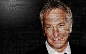 Typographic Rickman Wallpaper by camil