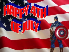Happy 4th from Cap by Dragonrider1227
